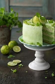Tort Mojito. Bardzo orzeźwiający i wiosenny tort Mojito. Zdecydowanie odmienn...