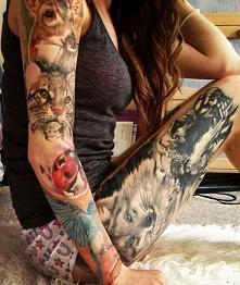 zwierzęta jako tatuaże