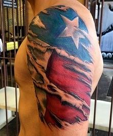 USA flag tattoo on arm