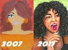 Mój progress w rysowaniu  przez 10 lat nie poddawałam się i ćwiczyłam technik...