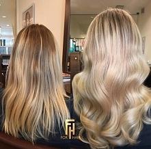 piękny blond z Olaplex oraz Moroccanoil