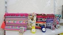 kosmetyczki w azteckie wzory , zegarki Fb/ Atelier Torebek wysyłka 24h