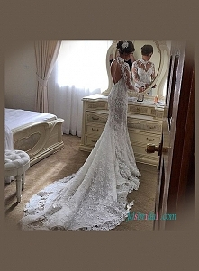 seksowna koronkowa suknia ślubna