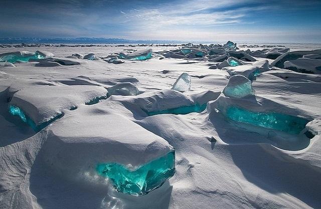 Jezioro Bajkał zimą :)