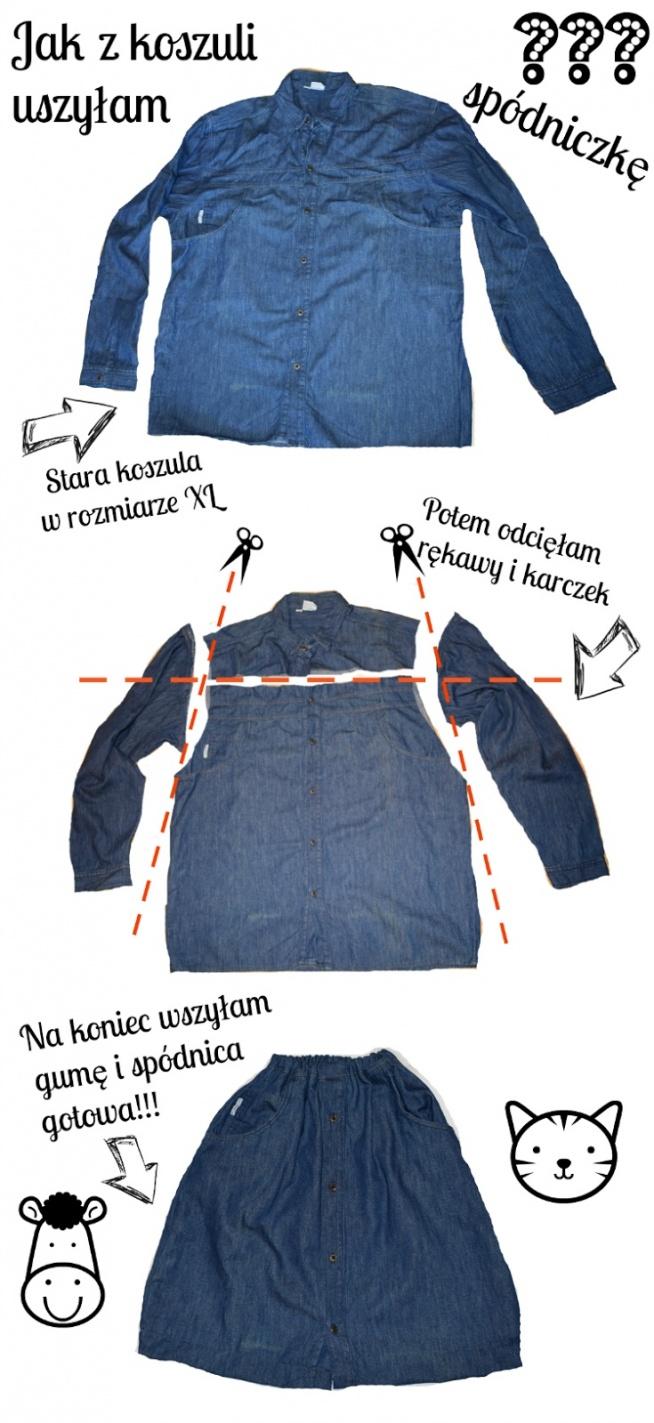 DIY - Jak uszyć spódnicę z koszuli?