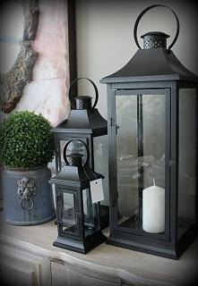 Duże czarne latarnie w stylu nowoczesnym Glamour. Piękne do wnętrza domu oraz...
