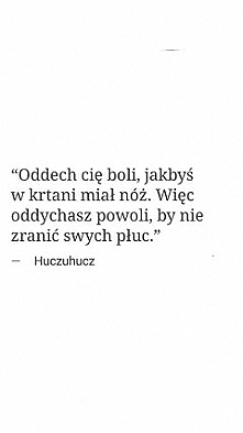 """Oddech.."" - Hucz..."