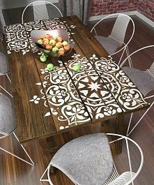 Stary stół trochę farby i lakieru <3 Świetny pomysł!