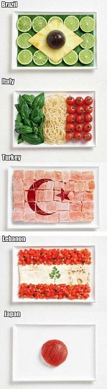 Dania ułożone z narodowych potraw w kształcie flagi!