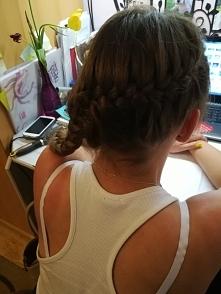 #fryzura #warkocz dobierany z  boku #cudo