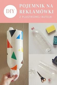DIY Pojemnik na reklamówki jednorazówki z plastikowej butelki