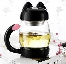 Kubek z zaparzaczem! Idealny gadżet dla miłośników herbaty i kotów