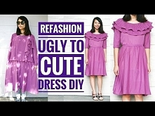 DIY | UGLY DRESS TO A CUTE ...