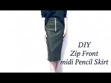 DIY Zip Front midi Pencil S...
