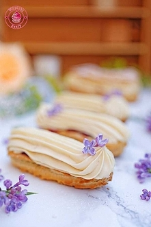 Eklery z białą czekoladą - Wypieki Beaty