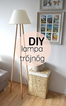 Jak zrobić lampę na drewnianych nogach, lampa tripod wood, lampa trójnóg