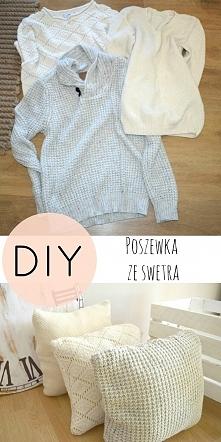 poszewka ze swetra, recykling ubrań, DIY