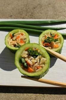 Wegańskie, wiosenne sushi -...