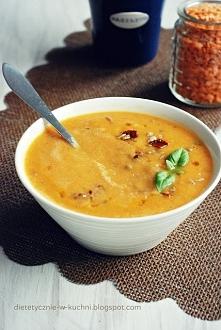 Zupa krem z warzyw, suszonych pomidorów i soczewicy