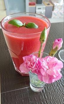 Koktajl/sok truskawkowo - arbuzowy