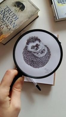 Jeżyk. Długopis w szkicowniku. FB/zuzarysowana