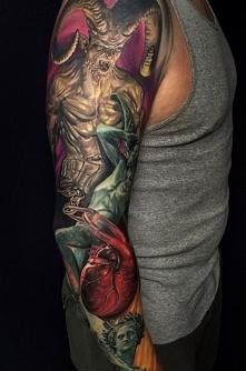 diabeł tatuaż na ręce