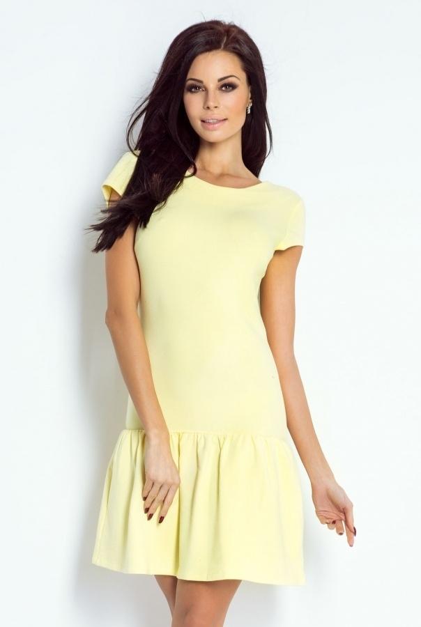 Urocza sukienka w kolorze cytrynowym !  ivon-sklep.pl @ivonsklep