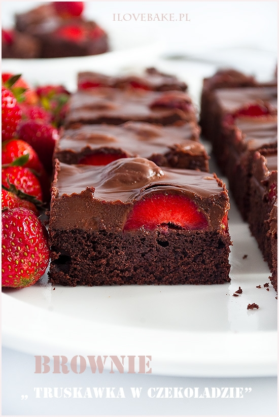 Brownie truskawka w czekoladzie