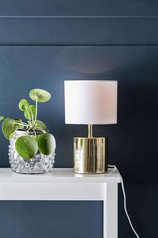 Złota lampa stojąca INES 106346 Markslojd abażurowa LAMPA gabinetowa dostępna w =mlamp=