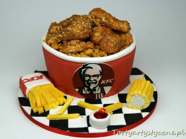 KFC tort urodzinowy