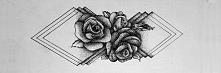 Połączenie róż i geometrii wszystko w stylu dotworku, co o tym sądzicie? :D