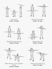 cwiczenia ze sztanga