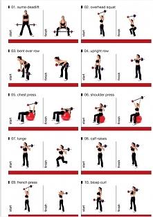 ćwiczenia  ze sztangą