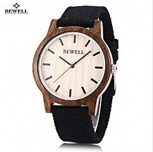 piękny drewniany zegarek