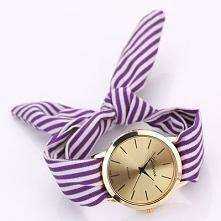 zegarek w kokardka, chustka