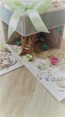 Ręcznie wykonany exploding box ślubny zapraszam na fanpage @pigwusiowo