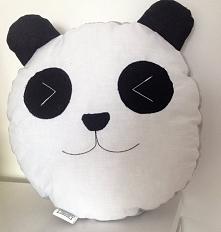 Poduszka panda, uszyta z ba...