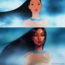 Pocahontas w nieco bardziej realistycznym stylu.