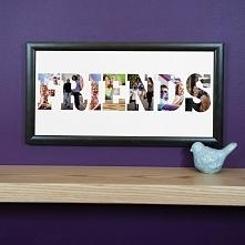 Obraz DIY zrobiony z liter ze zdjęć