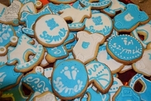Ciasteczka maślane jako upominki dla gości.