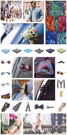 """""""Alternatywne"""" dodatki ślubne dla pana młodego - wzory; butonierka, kapelusz, spinki,szelki, obrączka, mucha, sygnet, krawat [więcej zestawów po kliknięciu w zdjęcie]"""
