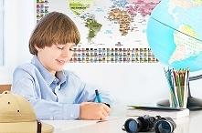 Mapa na ścianę dla małego o...