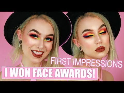 I WON FACE AWARDS 2017 + Full Face of New Makeup   Evelina Forsell