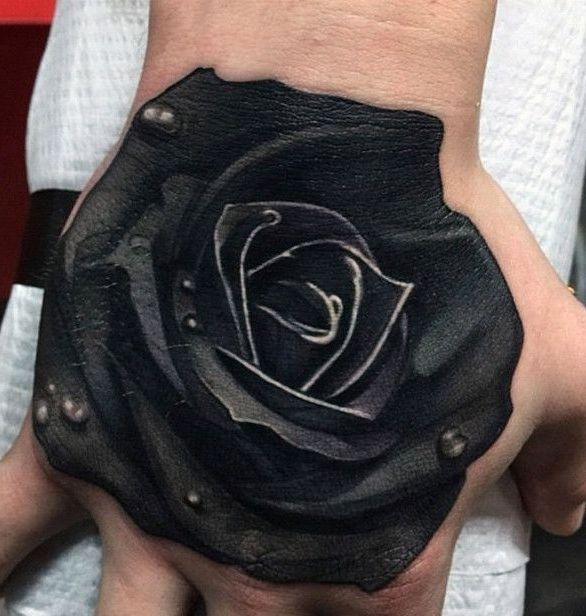 Czarna Róża Na Tatuaże Zszywkapl
