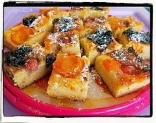 Ciasto z mąki kokosowej z owocami i konfiturą (bezglutenowe - po przepis, kli...