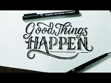 "Hand Lettering/ Typography Tutorial, SpeedArt | ""Good Things Happen"""