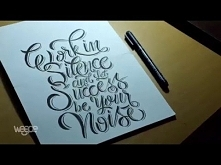 Hand Lettering (Typography) Tutorial, Step by step how to make writing Good Quote