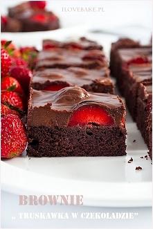 Brownie truskawka w czekola...