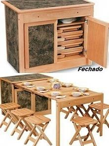 Stół w szafce...