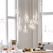 Lampy wiszące wykonywane na zamówienie z kabli w kolorowym oplocie. Ekotechni...